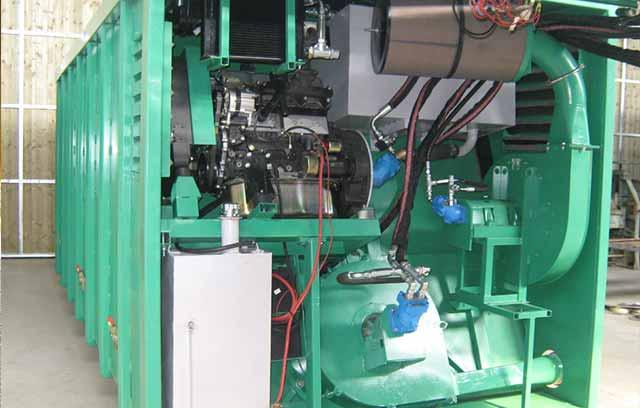 Hakepuhallin dieselkäyttöinen